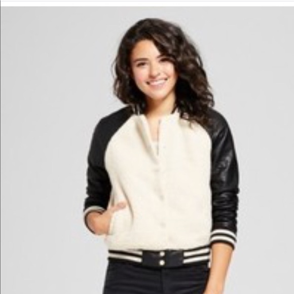 8486a0f6980 Xhilaration Jackets & Coats | Womens Sherpa Bomber With Faux Leather ...